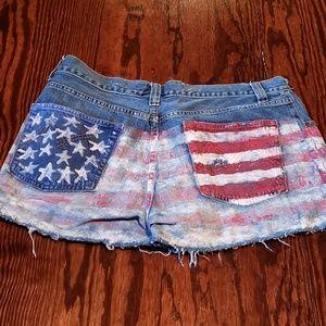 American Rag jeans repurposed to shorts. American